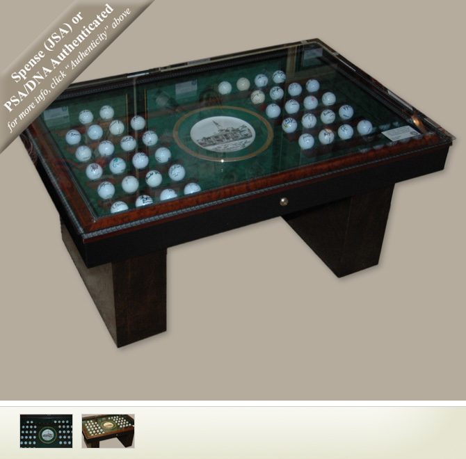 The Big Ball Coffee Table: Masters Coffee Table Autographed Golf Ball