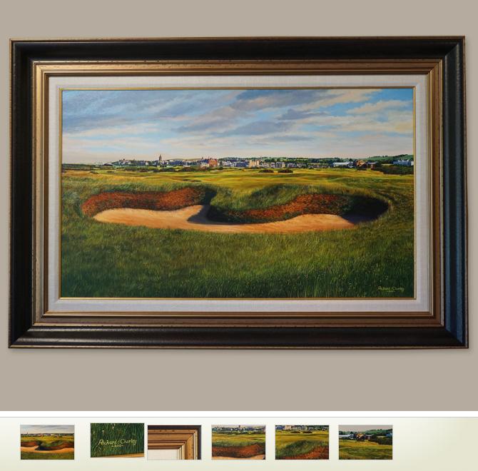 Uk Golf Courses Chorley Richard Original St Andrews Oil Painting