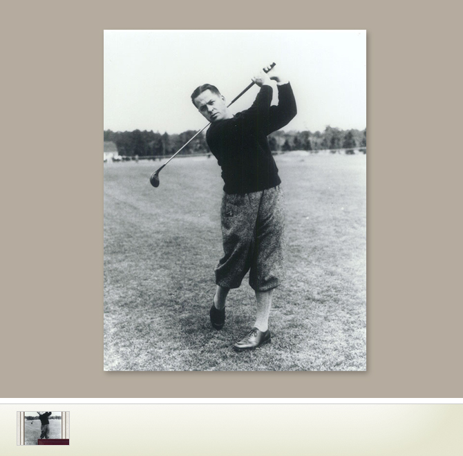 Golfs Past Jones Bobby 11 X 14 Photograph The Perfect