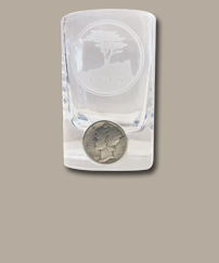 Pebble Beach Gold & Sterling Silver Money Clip